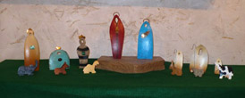 Abstract Fabricated Bronze Nativity